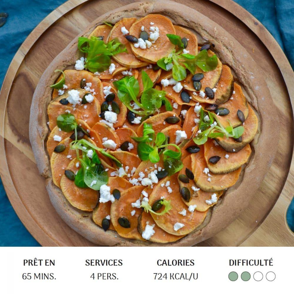 Pizza Patate Douce - Diet&Cie diététicienne en ligne