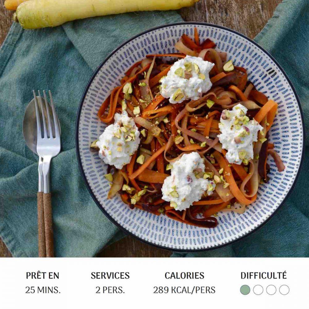 Pasta aux Carottes - Diet&Cie diététicienne en ligne