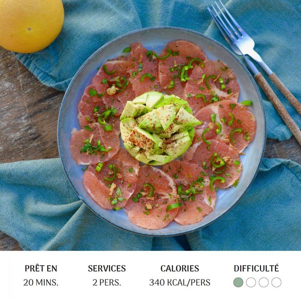 Carpaccio Fraicheur - Diet&Cie diététicienne en ligne