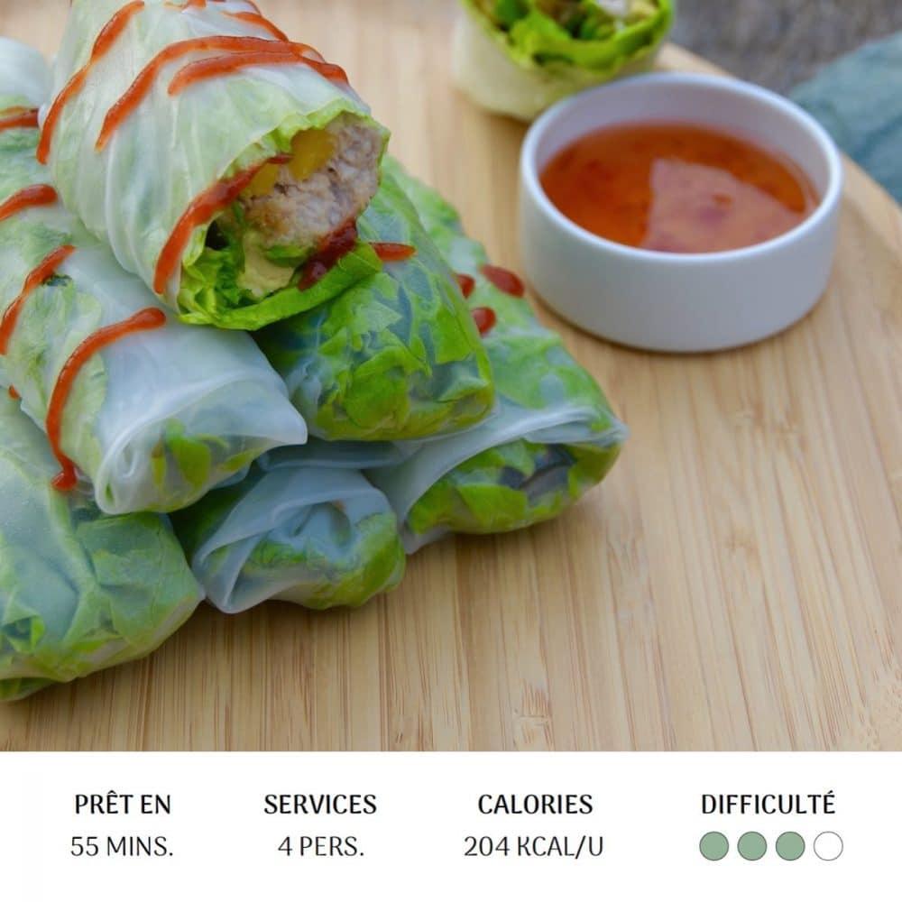 Rouleaux Spicy Thon - Diet&Cie diététicienne en ligne
