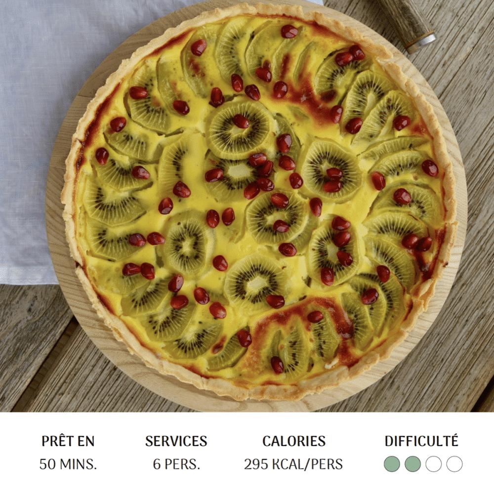 Flan Kiwi Grenade - Diet&Cie diététicienne en ligne